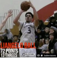 UCLA freshman Lonzo Ball's brother, LiAngelo, scored 72 points just one night after scoring 56 (via @ballervisions, h-t @houseofhighlights): 72 POINTS  13 THREES  BALLERVISIONS n a ballervisions UCLA freshman Lonzo Ball's brother, LiAngelo, scored 72 points just one night after scoring 56 (via @ballervisions, h-t @houseofhighlights)