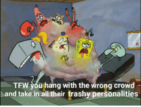 SpongeBob, Tfw, and Trashy: 72  TFW you hang with the wrong crowd  and take in all their trashy personalities