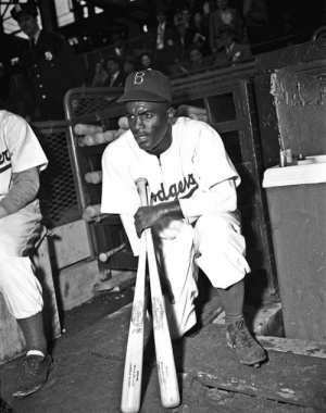 72 years ago today, Jackie Robinson breaks the MLB color barrier when he steps on Ebbets Field for the Brooklyn Dodgers ✊: 72 years ago today, Jackie Robinson breaks the MLB color barrier when he steps on Ebbets Field for the Brooklyn Dodgers ✊