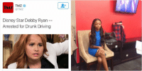Disney, Driving, and Drunk: TMZ  TMZ  Disney Star Debby Ryan  Arrested for Drunk Driving  Disney Star Debby Ryan Arrested for  Drunk Driving  tmz.com zuri in the police department waiting to bail out jessie like