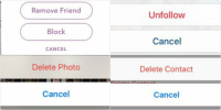 spring cleaning cleaning be like: Remove Friend  Block  CANCEL   Unfollow  Cancel   Delete Contact  Cancel   Delete Photo  Cancel spring cleaning cleaning be like