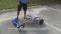 Funny, Hoverboard, and Hoverboards: HouerCart easily attaches to hoverboard  with patent pending clamp this is so creative