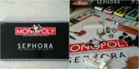 MES to Adult  MONOPOLY  Property Trading Game from Parker Brothers  SEPHORA  THE  BE A UTY AUTH ORITY   Property SEP HORA  POLY  Trading Game from Parker Brothers  RA There's a sephora themed monopoly board game lmao