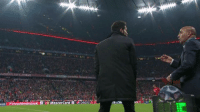 MasterCard Doos Simeone giving the 4th official a friendly pat. Jesus!