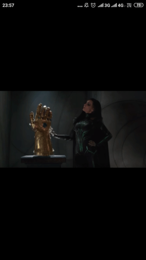 """The gauntlet in Thor Ragnarok which Hella says is """"fake"""" is a right hand gauntlet. Thanos wears his gauntlet in the left hand. Which kinda makes the """"fakeness"""" even more obvious.: 73  23:57  ... The gauntlet in Thor Ragnarok which Hella says is """"fake"""" is a right hand gauntlet. Thanos wears his gauntlet in the left hand. Which kinda makes the """"fakeness"""" even more obvious."""