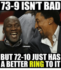 BullsNation: 73-9 ISNT BAD  NBAMEMES  BUT 72-10 JUST HAS  A BETTER RING  TOIT BullsNation
