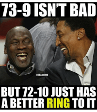 🐸🐸: 73-9 ISN'T BAD  @NBAMEMES  BUT 72-10 JUST HAS  A BETTER  RING  TO IT 🐸🐸