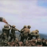 Memes, Forever, and Marines: 73 years ago today, Marines on Iwo Jima raised the flag atop Mount Suribachi. We are forever grateful for  the greatest generation ever! 🇺🇸🇺🇸 https://t.co/SVhMRQ14zG