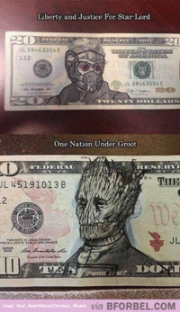 Avengers, Justice, and Lincoln: Liberty and Justice For Star-Lord  UL 08463054 E  L12  JL 0846 3054 E  One Nation Under Groot  HER  L 45191013 B  via BFOR BEL COM  Drunken. Wookie So then Lincoln would be Rocket? ~MadTitan~