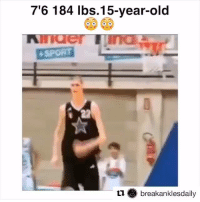 Sports, Break, and Old: 7'6 184 lbs. 15-year-old  GO GO  +SPORT  ti break anklesdaily Parang kahoy lang