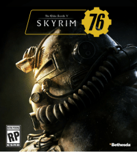 Bethesda, Scrolls, and Esr: 76  The Glder Scrolls V  S KYRIM  RATING PENDING  RP  ESR B  Bethesda