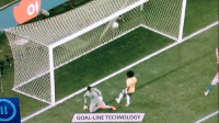 GOAL LINE TECHNOLOGY Thank goodness we had goal-line technology for this one.