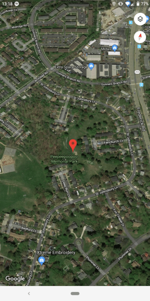 Google, Run, and Midas:  77%  13:18  Twinflower Cir  Crick  Auth  Midridge Rd  llcre  Midas  Extra Space Storage  355  Archdale Rd  St Johnsbury Ln  Gunners Branch Rd  Scene  Gunners Branch Rd  St Johnsbury Ln  phy Ct  Fenchurch Ct  Реереероороо  Memorial Park  St Johnsbury Ln  Bedford Ct  Xtreme Embroidery  Plummer Ct  Plummer Dr  Google  Frederick Rd  St Johnsbury Ln  Gunners Branch Rd  epS  Fox Chapel Dr  Deep Run Ct  St Johnsbury Ln  nsbury Ln He was like a father to us, they loved him as a son