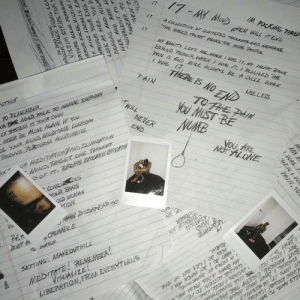 "2 years ago today, the late #XXXTentacion released '17' featuring the tracks ""F*ck Love"", ""Revenge"", and ""Jocelyn Flores"". Comment your favorite song off this album below! 👇🔥🎶 #RIPXXXTentacion #HipHopHistory https://t.co/Yu4DAC2BGG: 77-MY MINDHEN WILL TEND  17  IM FUCKING TIRED  17  A COLLECTION OF SCATTERED THOUSHS AND MEMORS  ""THE NAKED TRUTH HENCE THE NUBE PHSTOS  17  MY SANITY LEFT ME, WHEN I WAS I7, MY HEART BROKE  BEYoND REPAIR, WHEN Iwis ,IREAUZED HE  PAIN IS AND WILL ALWAVS BE CYLLE WHEN  IWAS 17,  THERE IS NO END  PAIN  USELESS  10 REMEMBER  OR PE MIND TALK TO NAMNE EVERYDY  EF SSTEM SoUR ONN  NEXER BE ALONE AAIN I You  OL YOUR AMIND, MEDITAIE EVRD  PISSINE, PERFORA AEGRESSNE  TOFHE PAIN  You MUST BE  NILL  NEVER  VITHIN  NUMEB  END  OF MEDITAIOon s ELIMTio  AAIND THRGET ONE THOKGNT  You ARE  NoT oNE  CONSCIZEOUS  YOUR BRAIN  OLD WOMAN  TION  DOE BALATH BREATHBREITH  9TOWER  HAN DISSAPEARS0  ACRMBLE  BEA  REAM  MEDITATE REMEMBER!  VISUALIZE!  TO MAIEM  WHO KNOWS IGUES  ELS SAFE T S  SETTING: MAKEOUTHILL  202 NIOD マの  LIBERATION, EROM EVERYTHANG  M ENDHT  ROSIC VIDEO COA  VICTIM STRIBS roR  ORTURE SCENE FLATURING  RROR FACES, VICTIM  EX AND IDEALLY EN  HROUGH YOUR  L00K AT HER  DEMOAS AND  HER AND RAPE H  nO  N/GH  AT  TAIN, YO  MINZA  IWAS L  MY 2 years ago today, the late #XXXTentacion released '17' featuring the tracks ""F*ck Love"", ""Revenge"", and ""Jocelyn Flores"". Comment your favorite song off this album below! 👇🔥🎶 #RIPXXXTentacion #HipHopHistory https://t.co/Yu4DAC2BGG"
