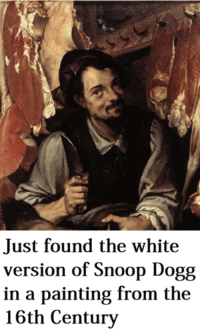 painting: Just found the white  version of Snoop Dogg  in a painting from the  16th Century
