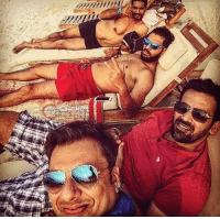Chill, Memes, and Beach: 7777771 Yuvraj Singh and Zaheer Khan chill by the beach with friends.