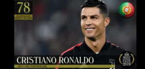 They really did him dirty huh: 78  Sth APPEARANCE  HIGHEST: 29th (2016)  YER  THE  100  MOST  HANDSOME  FACES  2019  CRISTIANO RONALDO  JUUENTUS  OLD LADY FOOTBALLER They really did him dirty huh