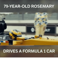 Tag a friend who'd love to drive this F1 car! @renaultsport f1 renaultsport renault motorsport ad: 79-YEAR-OLD ROSEMARY  RENA  DRIVES A FORMULA 1 CAR Tag a friend who'd love to drive this F1 car! @renaultsport f1 renaultsport renault motorsport ad