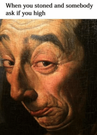 When you stoned and somebody  ask if you high Welcome to Classical Art Memes, come like the page