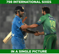 Shahid Afridi & MS Dhoni have hit 476 & 322 sixes in International cricket respectively.: 798 INTERNATIONAL SIXES  IN A SINGLE PICTURE Shahid Afridi & MS Dhoni have hit 476 & 322 sixes in International cricket respectively.