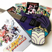 Batman, Easter, and Memes: 7A  mE  C Find the exact number of Batman-related easter eggs during Teen Titans GO! tomorrow for a chance to win a signed Steven Universe poster (signed by @rebeccasugar), Adventure Time comics, and a @powerpuffgirls Mojo Jojo electric guitar! 🎸😍 easter