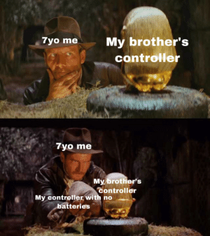 What Is, Brothers, and Template: 7yo me  My brother's  controller  7yo me  My brother's  controller  My controller with no  batteries What is this template please?