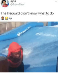 Memes, Meaning, and The Real: 8/02  @BajanShvm  The lifeguard didn't know what to do The real meaning of being washed up