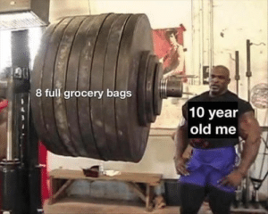 Memes, Today, and Old: 8 full grocery bags  10 year  old me 55 NEWEST MEMES FOR TODAY #859