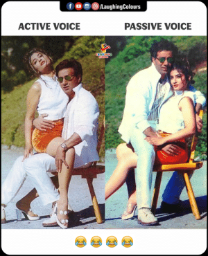 Voice, Indianpeoplefacebook, and Passive Voice: (8)/LaughingColours  ACTIVE VOICE  PASSIVE VOICE