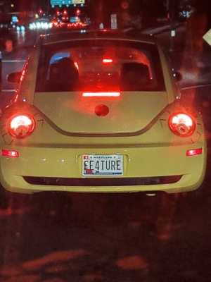 It's not a bug, it's a feature.: 8 MARYLAND 20  FE4TURE It's not a bug, it's a feature.