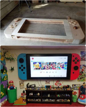 Nintendo, Giant, and Wanted: 8  WANTED 65-inch flatscreen modded to look like a giant Nintendo Switch (credit: suprman9)