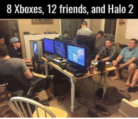 Halo 2 LANS were the shit👌🏽: 8 Xboxes, 12 friends, and Halo 2 Halo 2 LANS were the shit👌🏽