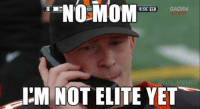 Credit: Seth Rybak: NO SD  NO MOM  GAORA  4:56 19  @NFL MEMES  IM NOT ELITE YET Credit: Seth Rybak