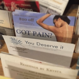 Pain, Got, and You: 820 off  GOT PAIN?  You Deserve it