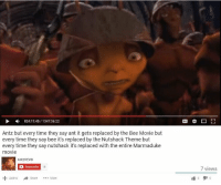Bee Movie, Coffee, and Movie: 824:11:45  1347:36:22  Antz but every time they say ant it gets replaced by the Bee Movie but  every time they say bee it's replaced by the Nutshack Theme but  every time they say nutshack it's replaced with the entire Marmaduke  movie  AntzVEVO  Subscribe  18  Add to  Share  More  r 1  7 views  6 *cracks fingers, leans back in chair, takes sip of coffee* https://t.co/CuZ37a24Rt