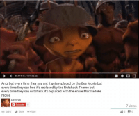 Bee Movie, Movie, and Time: 824:11:45/1347:36:22  Antz but every time they say ant it gets replaced by the Bee Movie but  every time they say bee it's replaced by the Nutshack Theme but  every time they say nutshack it's replaced with the entire Marmaduke  movie  AntzVEVOo  Subscribe  18  7 views  Add to  Share More <p>Ojalá esto fuera real :(</p>