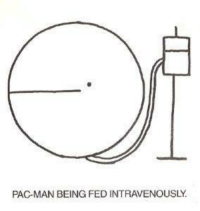 Pacman: PAC-MAN BEING FED INTRAVENOUSLY