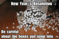 New Years: New Years Resolution  Be careful  about the boxes you jump into