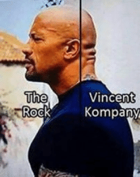 The Rock. Bench Warming: The  Rock  Vincent  Kompany The Rock. Bench Warming