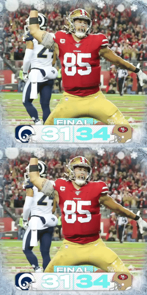 FINAL: The @49ers are 12-3! #GoNiners #LARvsSF  (by @Lexus) https://t.co/jA97hZSrtj: 85  19ERS  SAA  FINAL  G31349   85  19ERS  FINAL  i3134 FINAL: The @49ers are 12-3! #GoNiners #LARvsSF  (by @Lexus) https://t.co/jA97hZSrtj