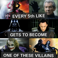 If you're lucky enough, comment your number and new identity Agent Coulson: EVERY 5th LIKE  GETS TO BECOME  ONE OF THESE VILLAINS If you're lucky enough, comment your number and new identity Agent Coulson