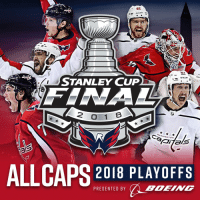 Memes, Boeing, and 🤖: 87  STANLEY CUF  FENA  2 O 1  ABHINGTON  2018 PLAYOFFS  BOEING  PRESENTED BY RT @Capitals: BELIEVE IT! THE WASHINGTON CAPITALS ARE GOING TO THE 2018 #STANLEYCUP FINAL! #ALLCAPS https://t.co/mQxQuXxeYn