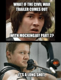 Credit to: Liz Cole ~ Deadpool: WHAT IF THE CIVIL WAR  TRAILER COMES OUT  WITH MOCKINGJAY PART 2  TSA LONG SHOT Credit to: Liz Cole ~ Deadpool