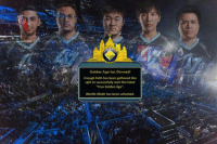 """Finals, League of Legends, and True: Golden Age has Dawned  Enough faith has been gathered this  split to successfully start the fated  """"True Golden Age"""".  Worlds Mode has been unlocked. The Potential is finally reaching! Congrats to CLG for NA LCS Champioship Be sure to get ready for the World Championship Fantasy Draft for prizes! https://vulcun.com/a/LOLMEMES"""