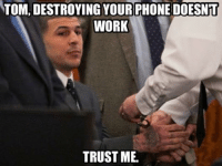Like Our Page NFL Memes! Credit - Joseph Massey: TOM DESTROYING YOUR PHONE DOESNT  WORK  TRUST ME.  Like Our Page NFL Memes! Credit - Joseph Massey