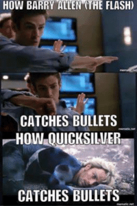 Avengers, The Flash, and How: HOW BARRY ALLEN (THE FLASH)  CATCHES BULLETS  HOW OUICKSILVER  CATCHES BULLETS Agent Coulson