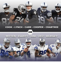 Memes, 🤖, and Group: 89  COOK LYNCH CARR COOPER CRABTREE  OR  WITTEN ELLIOTT DAK DEZ BEASLEY Double tap on what skill group you would rather have 👇🏼🔥