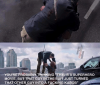 "So pumped for this movie. That new trailer is amazing  Agent Coulson: ABLY IS A SUPERHERO  MOVIE, BUT THAT GUY IN THE SUPT JUST TURNED  THAT OTHER GUY INTO A FUCKING KABOB"" So pumped for this movie. That new trailer is amazing  Agent Coulson"