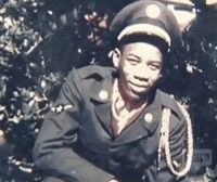 Morgan Freeman in a US Air Force uniform, 1955: DA Morgan Freeman in a US Air Force uniform, 1955