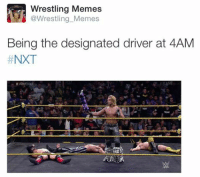 Designated: Wrestling  Memes  @Wrestling Memes  Being the designated driver at 4AM  NXT